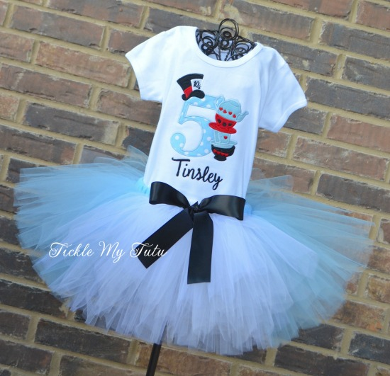 Alice In Wonderland Birthday Tutu Outfit