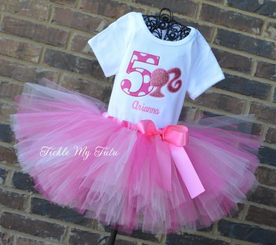 Pink Barbie Birthday Tutu Outfit