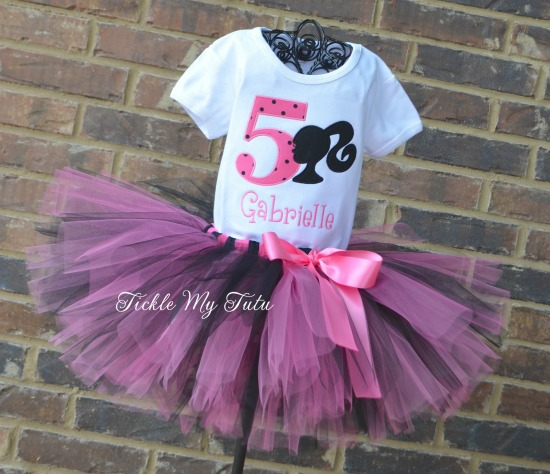 Barbie Inspired Birthday Tutu Outfit