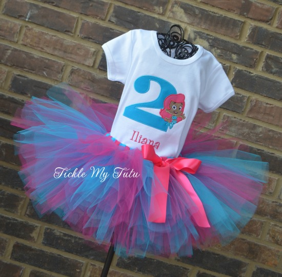 """Bubble Guppies """"Molly"""" Birthday Tutu Outfit"""
