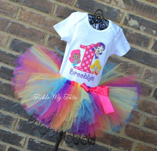 Bubble Guppy Girls Birthday Tutu Outfit