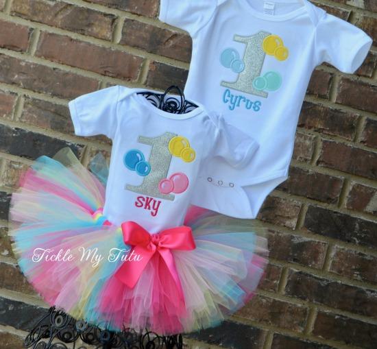 Boy/Girl Twin Bubble Bash Tutu Set