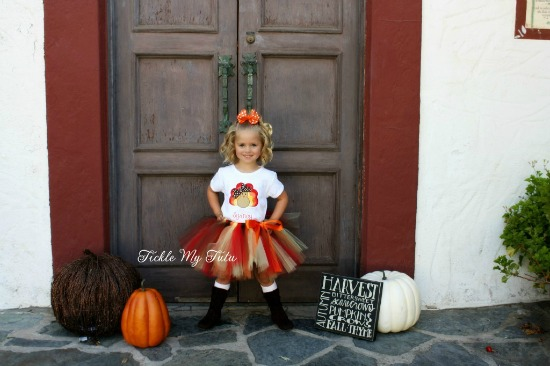 Chevron Turkey Thanksgiving Tutu Outfit