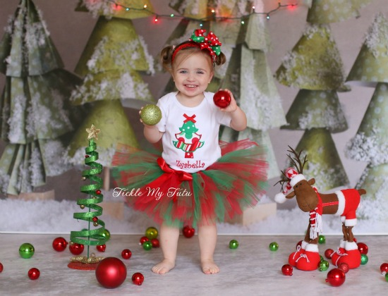 Christmas Tree Tutu Outfit