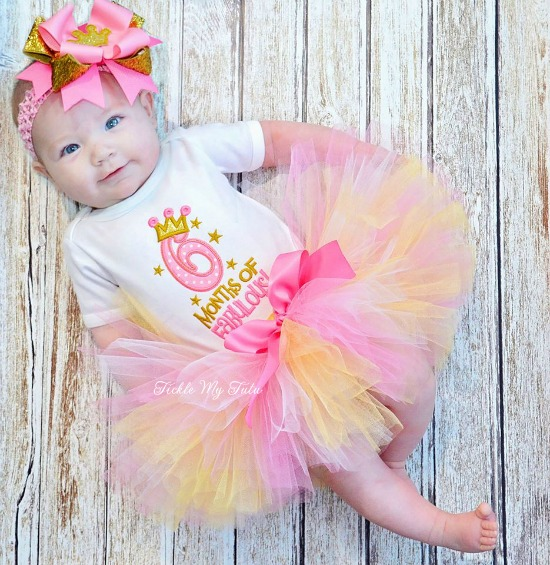 Six Months of Fabulous Half Birthday Tutu Set