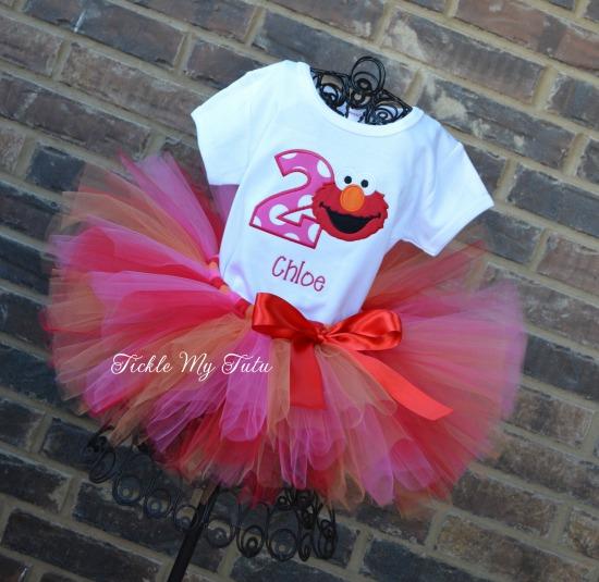 Elmo Birthday Tutu Outfit