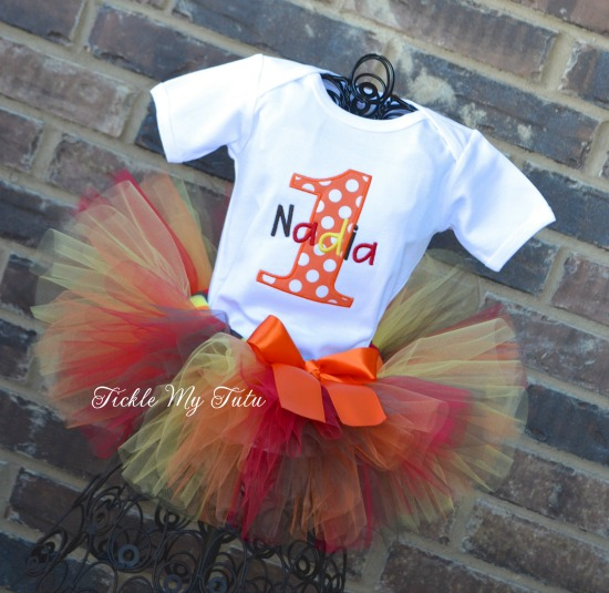Fall Harvest Birthday Tutu Outfit