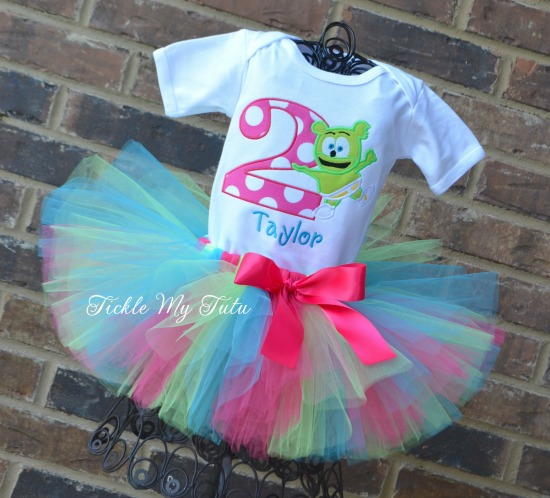 Gummibar Themed Birthday Tutu Outfit