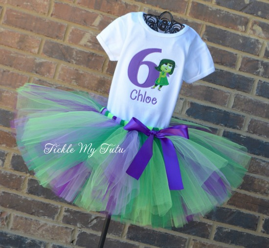 Inside Out Disgust Birthday Tutu Outfit