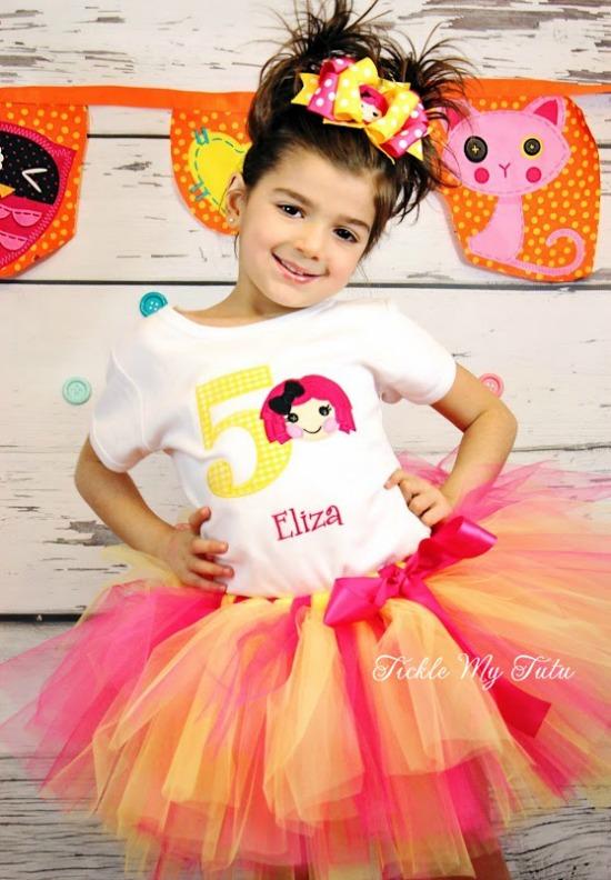 Lalaloopsy Themed Birthday Tutu Outfit
