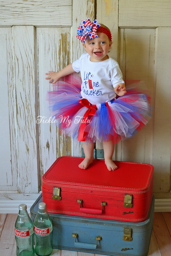 Lil' Firecracker Fourth of July Tutu Outfit