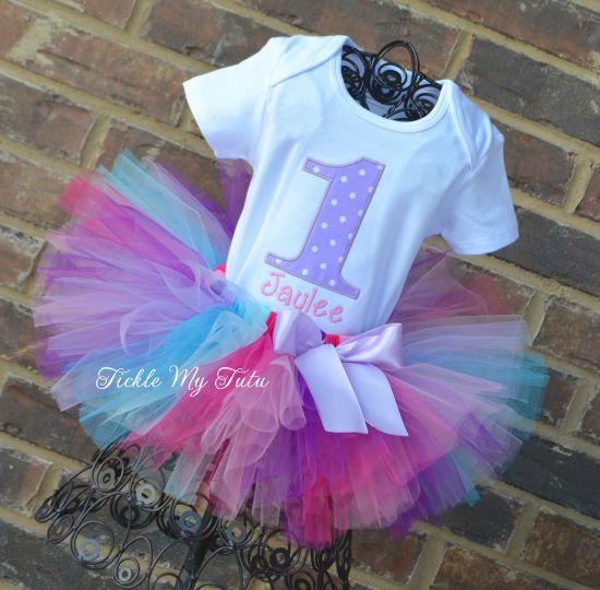 Lilac Polka Dot Cutie Birthday Tutu Outfit