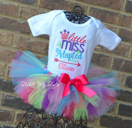 Little Miss Adopted Tutu Outfit