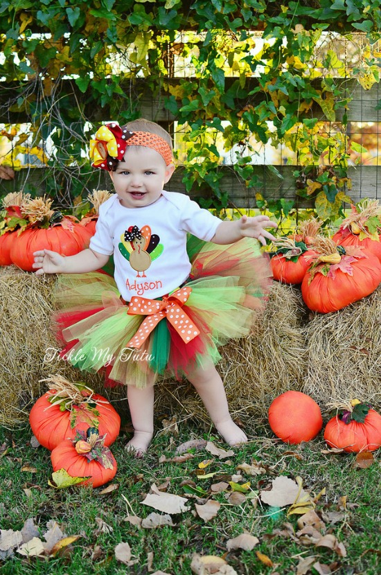 "Little Turkey ""Adyson"" Thanksgiving Tutu Outfit"