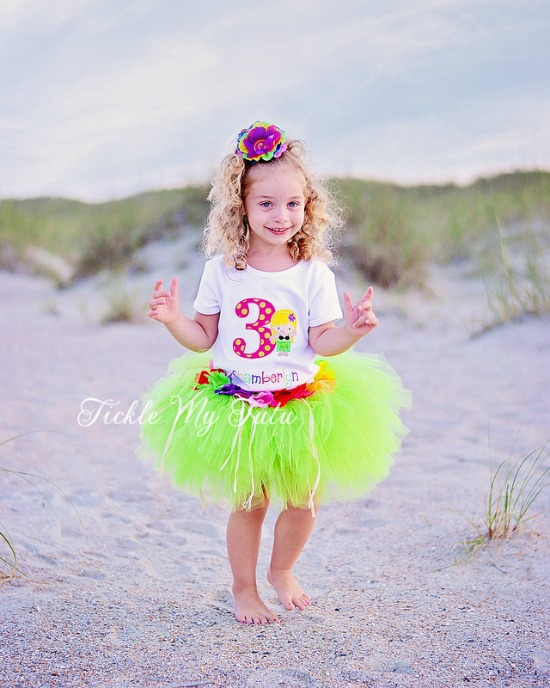 Luau Girl Hawaiian Themed Birthday Tutu Outfit