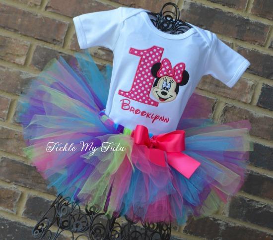"Minnie Mouse ""Brooklynn"" Birthday Tutu Outfit"