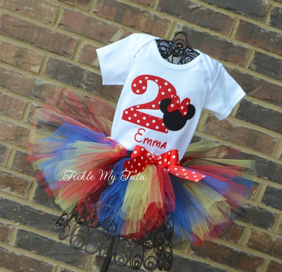 Minnie Mouse Birthday Tutu Outfit (Clubhouse Colors)