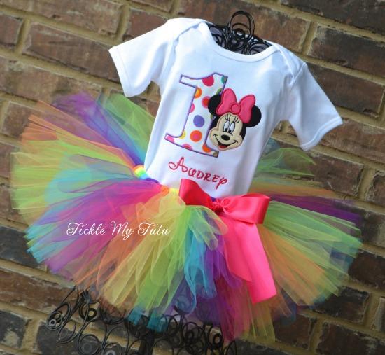 Minnie Mouse Polka Dot Party Birthday Tutu Outfit