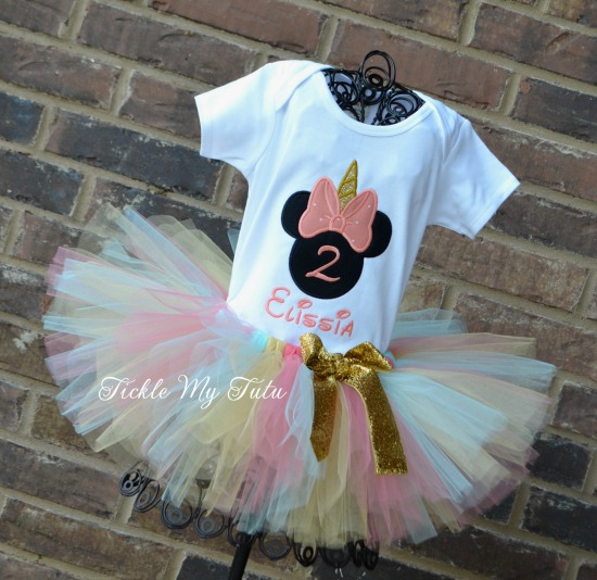 Minnie Unicorn Birthday Tutu Outfit