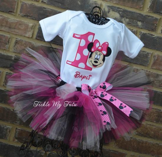 "Minnie Mouse ""Bayli"" Birthday Tutu Outfit"