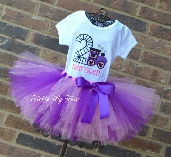 Minnie Mouse Train Birthday Tutu Outfit