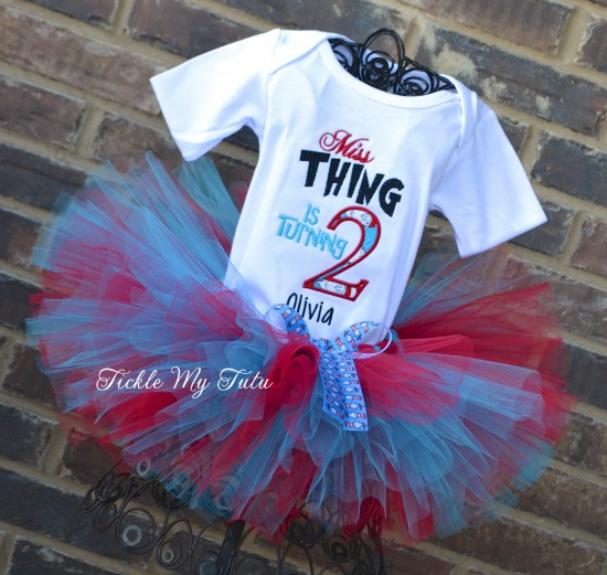 Miss Thing is 2 Birthday Tutu Outfit (Any Birthday Number)