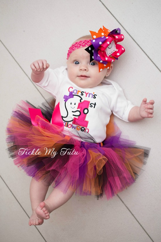 My First Halloween Tutu Outfit (ghost theme)