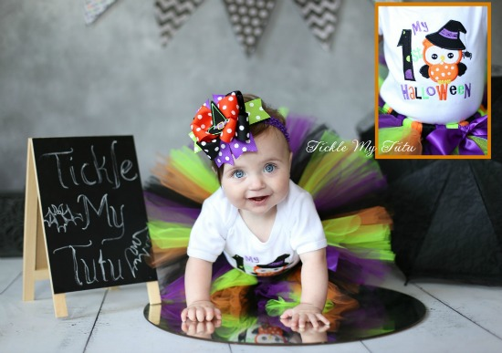 My First Halloween Tutu Outfit (owl theme)