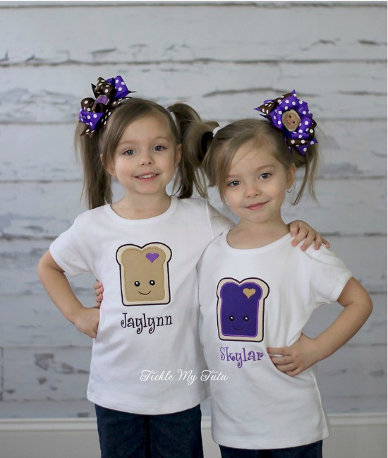 Peanut Butter and Jelly Shirt Set (Jaylynn/Skylar)
