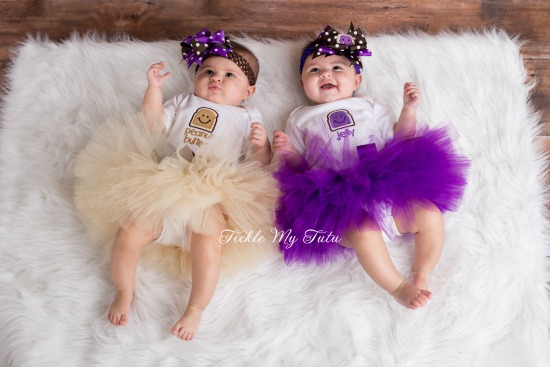 Peanut Butter and Jelly Twin Girls Tutu Set