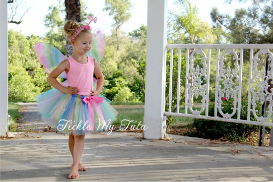 Pastel Rainbow Tutu and Antennae Headband