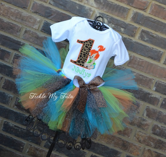 Pebbles Flintstone Birthday Tutu Outfit