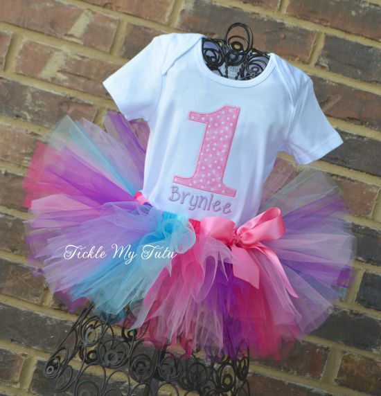 Pink Polka Dot Cutie Birthday Tutu Outfit