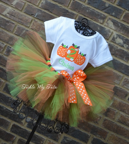 Pumpkin Trio Fall Themed Tutu Outfit