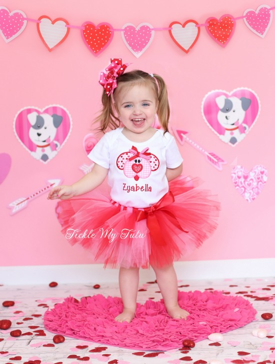 Puppy Love Valentine's Day Tutu Outfit