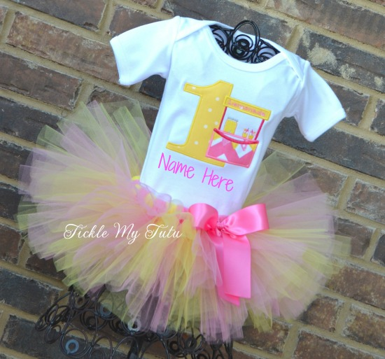 READY TO SHIP  Pink Lemonade Stand Birthday Outfit