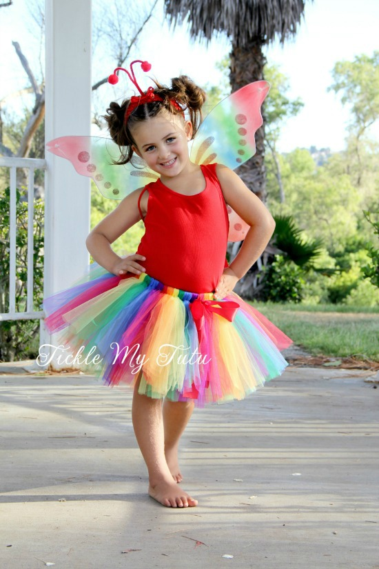 Rainbow Butterfly Tutu Costume, Butterfly Halloween Costume