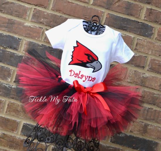 Redhawk Mascot Birthday Tutu Outfit