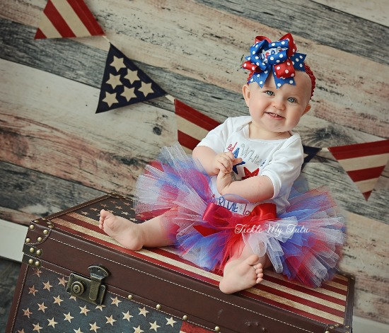 Red, White, and FaBLUElous Fourth of July Tutu Outfit