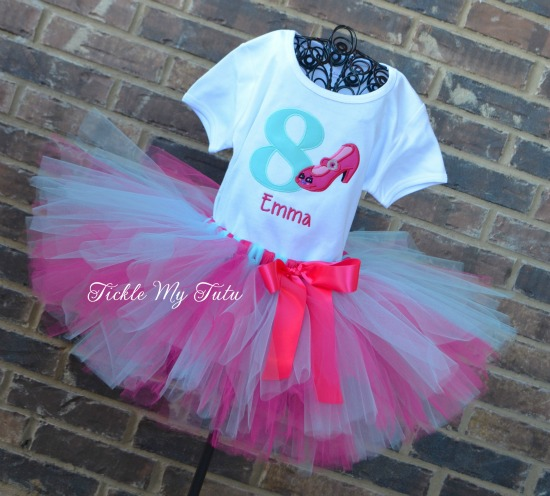 Shopkins Inspired High Heel Birthday Tutu Outfit