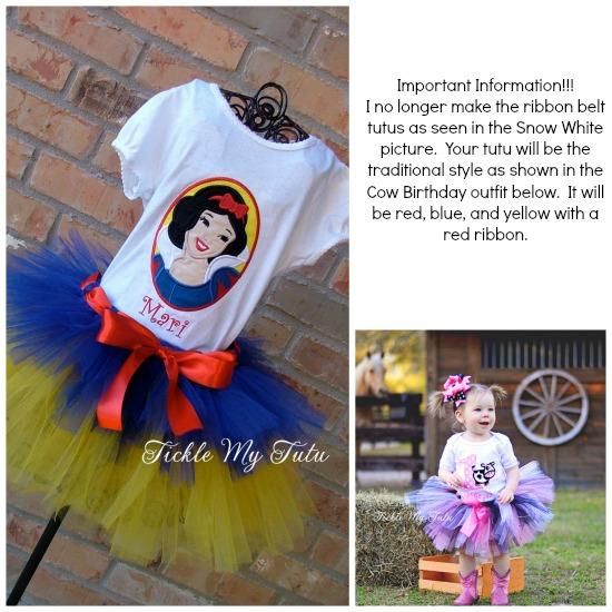 Snow White Themed Tutu Outfit