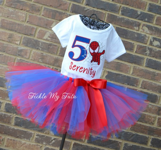Spiderman Birthday Tutu Outfit