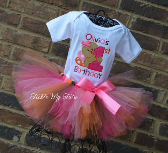 My First Birthday Thanksgiving Turkey Tutu Outfit (Design 2)