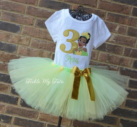 Tiana Birthday Tutu Outfit