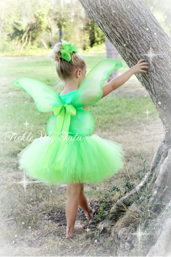 Tinkerbell Inspired Lime Green Pixie Fairy Wing Costume