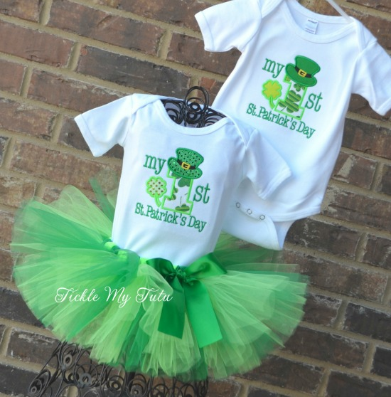 Boy/Girl Twins My First St. Patrick's Day Tutu Outfit