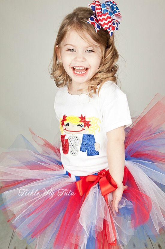 Fourth of July USA Girl Tutu Outfit