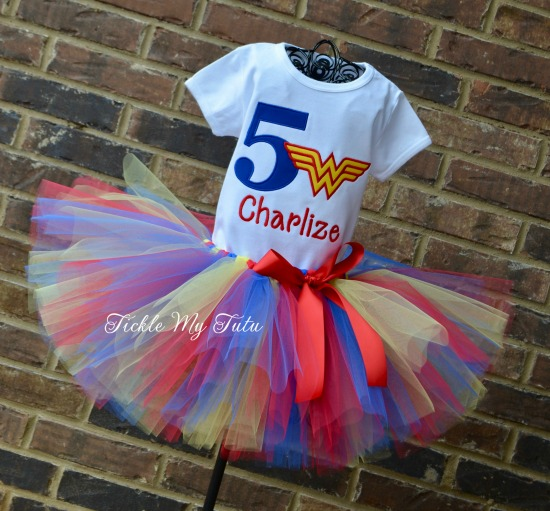 Wonder Woman Birthday Tutu Outfit