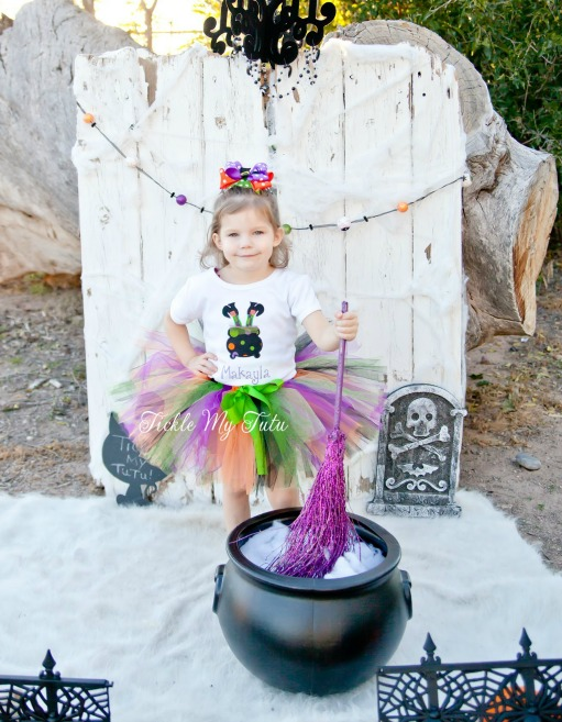 Wonky Witch Feet Halloween Tutu Outfit