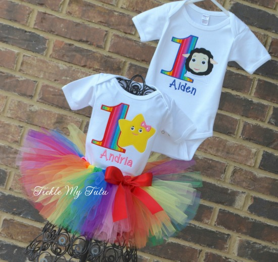 Boy/Girl Twin Little Baby Bum Birthday Tutu Outfit